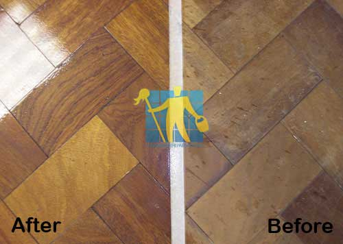 before and after stripping sealer floor