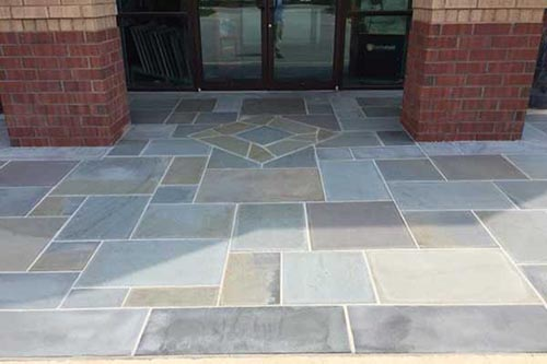 bluestone floor after repairing