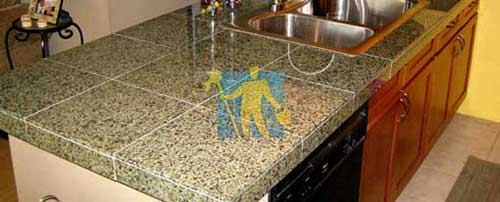 after repairing granite tile in kitchen Adelaide