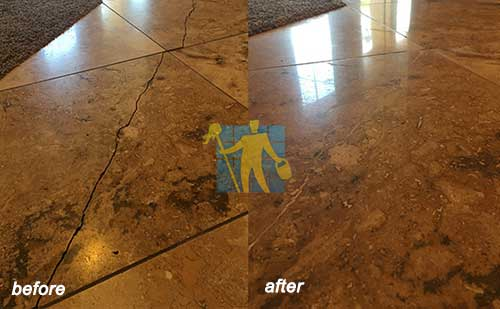 travertine before and after repairing Gawler